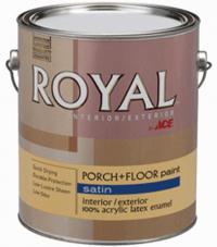 Краска для деревянных и бетонных полов Royal Satin Latex Porch Floor Enamel