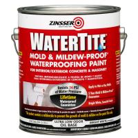 Краска Zinsser WaterTite на алкидной основе.