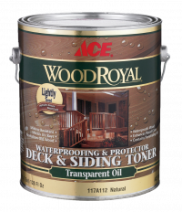 Ace Wood Royal Waterprofing protector Deck Siding Toner Transparent Oil