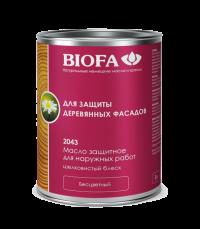 Масло защитное для наружных работ с антисептиком BIOFA - 2043