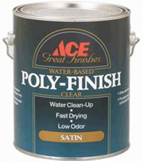 Водный лак для внутренних работ Poly-Finish Great Finishes Water-Based Ace Paint