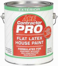 Матовая фасадная краска Ace Paint Contractor Pro Flat Latex House Paint для наружных работ