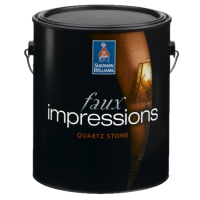 Sherwin Williams faux impressions quartz stone Gold
