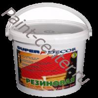 Резиновая краска для внутренних и наружных работ Super Decor